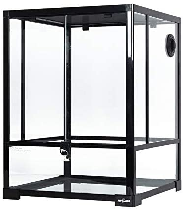 "REPTI ZOO Reptile Glass Terrarium Front Opening Terrarium with Double Hinge Door & Top Screen Ventilation, 30 Gallon Tank Large Reptile Terrarium 18"" x 18"" x 24""(Knock-Down) : Pet Supplies"