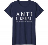 ANTI LIBERAL T SHIRT, FIND YOUR SAFE SPACE SNOWFLAKE: Clothing