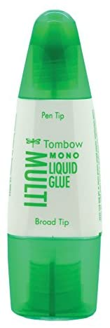 Tombow 62191 MONO Multi Liquid Glue, 0.88 Ounce, 1-Pack. Multi-Purpose Glue with Dual Tip Dispenser for Precise to Full Coverage Application: Home & Kitchen