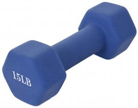 MOYCK Barbell Neoprene Coated 6-15 Pound Weights Dumbbell (Set of 2), Blue (15 LB (Pair)) : Sports & Outdoors