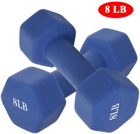 FINEjuyudd Dumbbell Barbell Set Hex Dumbbells Barbell Neoprene Coated Weights 6/8/10/12/15 Pair for Home Gym Exercise Non-Slip Hexagon Shape Hand Weights for Strength Training (E 15LB) : Sports & Outdoors