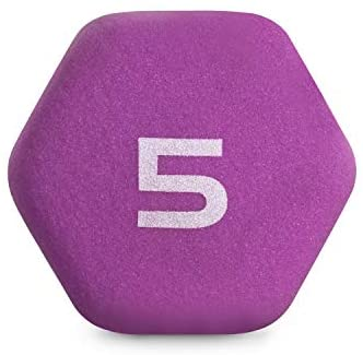 CAP Barbell Neoprene Coated Dumbbell Weights, 5 Pound, Single, Magenta : Sports & Outdoors