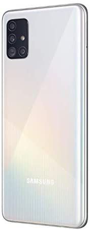 Samsung Galaxy A51 Factory Unlocked Cell Phone | 128GB of Storage | Long Lasting Battery | Single SIM | GSM or CDMA Compatible | US Version | White