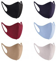 6 Pack Fashion Cloth Fabric Face Protection, Unisex Earloop Bandana Balaclava 3 Colors Mask, Washable, Reusable