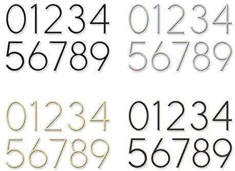 Distinctions 844719 Floating House Address Number, Black