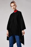 Lacavocor Women's Warm Wrap Cape Winter Cardigan Sweaters Open Front Poncho (A1-Khaki) at Women's Clothing store