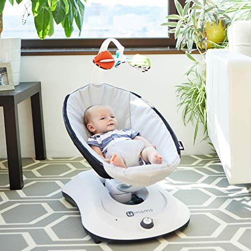 4moms rockaRoo Baby Swing   Compact Baby Rocker with Front to Back Gliding Motion   Cool Mesh Fabric   Dark Grey : Baby