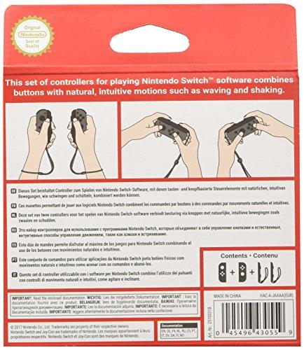Nintendo Switch Joy-Con Controller Pair - Neon Red/Neon Blue: Video Games