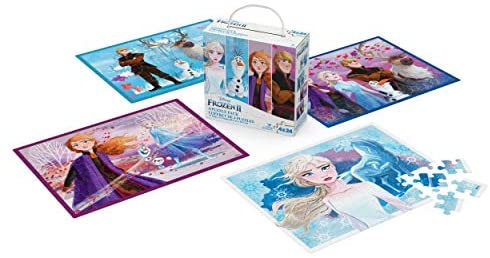 Disney Frozen 2 4-Pack of Jigsaw Puzzles for Families, Kids, and Preschoolers Ages 4 and Up: Toys & Games