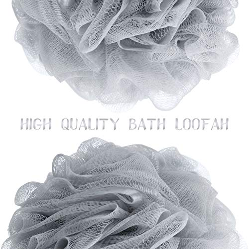 Bath Shower Loofah Sponge Pouf Body Scrubber Ball Mesh Bath Sponge: Beauty