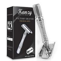 Kanzy Shaving Razors for Men Double Edge Safety Razor Stainless Steel: Beauty