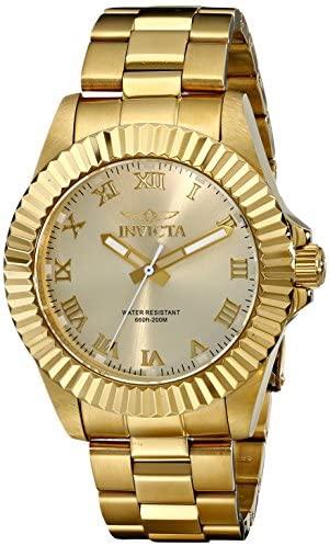 Invicta Men's 16739 Pro Diver Analog Display Swiss Quartz Gold Watch: Watches