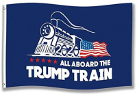 MFEI Trump Train Flag 12x18 Double Sided, All Aboard The Trump Train Flag, for Boat, True Two-Sided, Three Layers : Garden & Outdoor