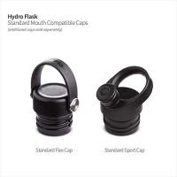 HydroFlask Water Bottle, Standard Mouth, Flex Cap (White, 24 oz): Home Improvement