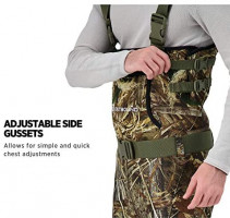 OUTBOUND Neoprene Chest Waders with Boots for Men & Women   Water-Proof Camo Fishing Waders with Belt & Hand Warmer Pocket   Real Tree Max-5 : Sports & Outdoors