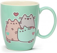 Enesco 4060150 Pusheen The Cat Pastel Stoneware Mug, 12 oz., Green: Toys & Games