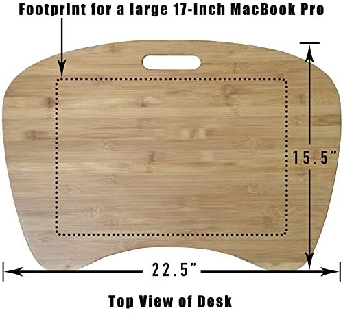 Green Sphere Bamboo Lap Desk Virtually Indestructible for Working in Home Office, Home School, Reading, TV or Bed Tray | Patented: Home & Kitchen