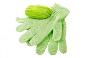 Linda Exfoliating Bath Gloves, Pack of 4 : Beauty