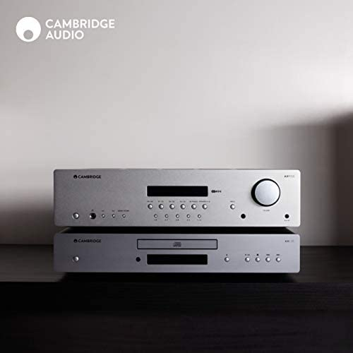 Cambridge Audio AXR100 100-Watt Stereo Receiver with Bluetooth | Built-in Phono Stage, 3.5mm Input, AM/FM with RDS: Home Audio & Theater