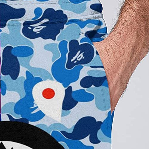 Venconmigo Bape Mens 3D Sports Sweatpant Funny Graphric Hip Hop Slim Fit Track Pants at Men's Clothing store
