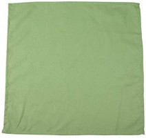 INFEI Soft Solid Color Linen Cotton Dinner Cloth Napkins - Set of 12 (40 x 40 cm) - for Events & Home Use (Lime): Home & Kitchen