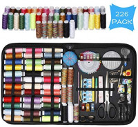 Lawillever Travel Sewing Kit 226 Premium Sewing Supplies with 43 XL Thread Spools, Needle and Thread Kit, Sewing Kits for Adults, Beginners