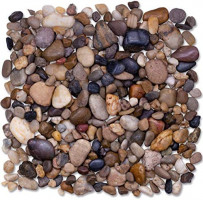GuroBust 4-lb. Decorative River Rocks, Pebbles for Succulent Plants, Natural Stones Pea Gravel for Terrarium, Cactus Plants, Bonsai Tree, Vase Fillers, Painting, Small to Large Sizes. (4 lb.) : Garden & Outdoor