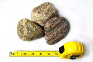 """Large 3"""" Granite River Rock 5lb - Decorative Natural Granetic Gneiss for Aquariums, Landscaping and Fire Pits : Garden & Outdoor"""