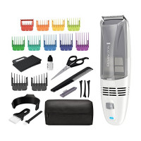Remington HC6525 Color Comb Vacuum Haircut Kit, Vacuum Trimmer, Hair Clippers, Hair Trimmer, Clippers, White: Beauty