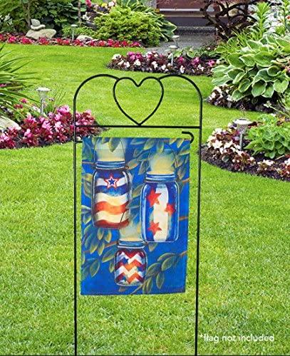 """Briarwood Lane Wrought Iron Black Heart Arbor for Garden Flags 41"""" H : Garden & Outdoor"""