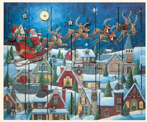 Byers' Choice Santa's Sleigh Advent Calendar AC07 from The Advent Calendars Collection: Home & Kitchen