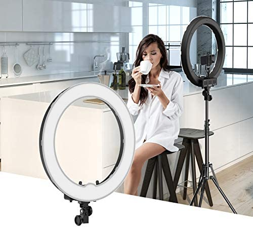 "Ring Light Kit:18"" 48cm Outer 55W 5500K Dimmable LED Ring Light, Light Stand, Carrying Bag for Camera, Smartphone, YouTube, Self-Portrait Shooting : Camera & Photo"