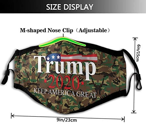 T-Ru-Mp 2020 Camouflage Men and Women are Suitable for Outdoor Dustproof Adjustable and Reusable Mouth Cover: Home & Kitchen