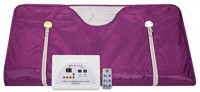 VANELL Sauna Blanket Upgraded Version Far-Infrared Digital Heat Sauna Heating Blanket, 2 Zone Controller with 50pcs Plastic Sheetings, to Reduce Weight Thin Body Home Beauty (Purple) : Garden & Outdoor