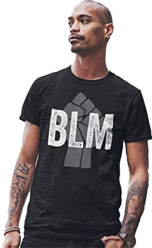 Go All Out Adult Fist BLM Black Lives Matter T-Shirt: Clothing