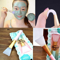Reasoncool 2 PCS Silicone Face Mask Brush,Mask Beauty Tool Soft Silicone Facial Mud Mask Applicator Brush Hairless Body Lotion And Body Butter Applicator Tools: Beauty