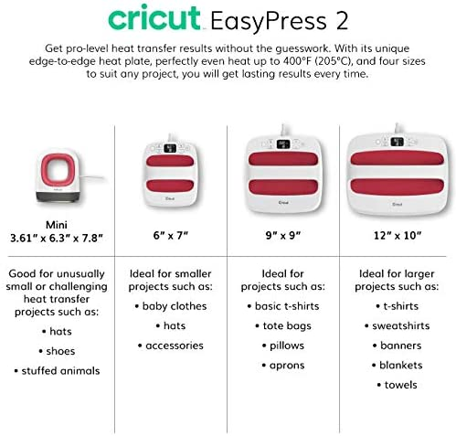 """Cricut Easy Press 2 Bundle – Heat Press Machine and Mat for HTV Projects, Weeder Kit, Mint, 9"""" x 9"""""""