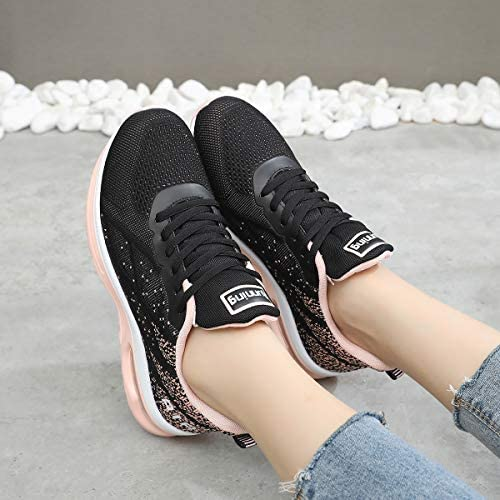 GANNOU Women's Air Athletic Running Shoes Fashion Sport Gym Jogging Tennis Fitness Sneaker US5.5-10 | Road Running