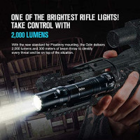 OLIGHT Odin 2000 Lumens Rechargeable Picatinny Rail Mounted Tactical Flashlight with Remote Pressure Switch, 300 Meters Beam Distance, Powered by 5000mAh 21700 Battery (Black): Sports & Outdoors