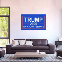 Anarkar Trump 2020 Flags Fuck Your Feelings Flag 3x5 Feet with Brass Grommets Donald Trump Outdoor Flags : Garden & Outdoor