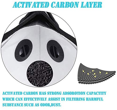 Lmaytech Activated Carbon PM2.5 Filters, Protective Parts Replacement Protect Against Dust and Gas, 10 Pack: Home & Kitchen