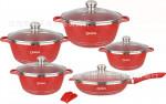 Dessini Brand 12-piece Maifan Stone Cookware Set Aluminum Cookware Set Nonstick Cookware