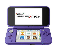 New Nintendo 2DS XL - Purple + Silver With Mario Kart 7 Pre-installed - Nintendo 2DS: Video Games