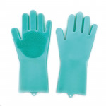 Silicone Dishwashing Gloves Cleaning Brush with Wash Scrubber