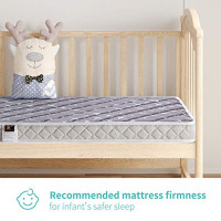 Bubble bear Premium Memory Foam Hypoallergenic Baby Bed Mattress and Toddler Bed Mattress&Lovely Print&Sturdy and Beautifully Designed Edges&Soft but Firm Enough, 52 x 28 x 5 inches(Gray Style) : Baby