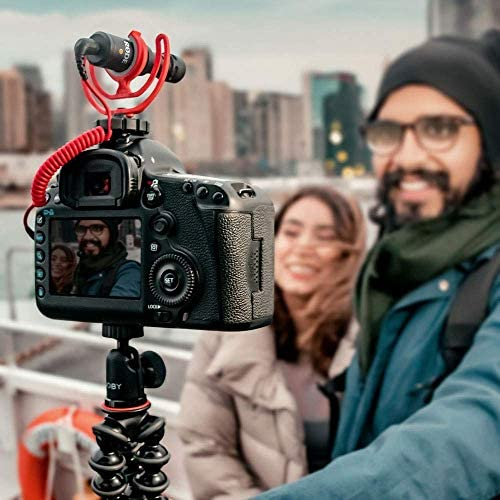 Rode Compact On-Camera Microphone with Rycote Lyre Shock Mount, Black (Videomicro) + 1 Year Extended Warranty: Home Audio & Theater