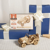 ROKR 3D Wooden Puzzles for Adults Mechanical Models Kits to Build (Army Jeep): Toys & Games