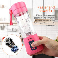 Tenswall Portable, Personal Size Blender Shakes and Smoothies Mini Jucier Cup USB Rechargeabl, pink: Kitchen & Dining