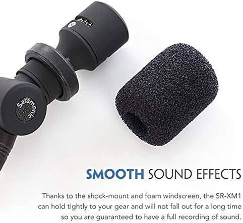 Saramonic XM1 3.5mm TRS Microphone for DSLR Cameras, Omnidirectional Plug and Play Mic for Camcorders, Digital Voice Recorder, Gopro, CaMixer, SmartMixer, LavMic, SmartRig+ and UWMIC9/UWMIC10/UWMIC15: Musical Instruments