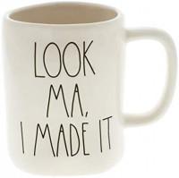 Rae Dunn by Magenta LOOK MA, I MADE IT Ceramic LL Coffee Mug: Kitchen & Dining